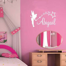 Personalized Fairy Name Wall Sticker Customized Princess Baby Girl Bedroom Decor