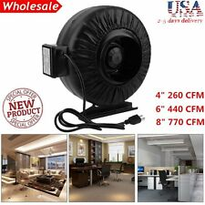 "4"" 6"" 8"" Inch Inline Fan Hydroponics Exhaust Fan Duct Cooling Fan Black New AL"