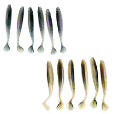 6Pcs Soft Minnow Shad Fishing Lures Worms Bass Swimbaits Paddle Tail Lures