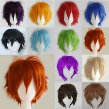 Fashion Anime Short Wigs Heat Resistant Synthetic Hair Cosplay Party Wig Fashion