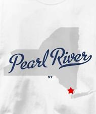 Pearl River, New York NY MAP Souvenir T Shirt All Sizes & Colors