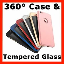 360° Full Body Hybrid Hard Case Cover + Tempered Glass For iPhone 6 6s 7 Plus 8