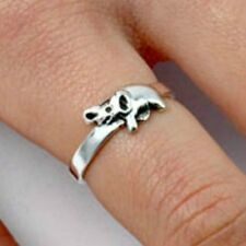 .925 Sterling Silver Ring Elephant Midi Kids Ladies size 3-10 Knuckle New p75