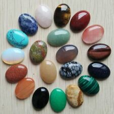 20pcs 18x25mm Sell Natural Stone Mixed Oval Cab Cabochon Teardrop Beads