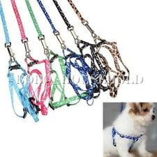 Adjustable Bone Paws Print Rope Small Pet Dog Cat Lead Leash Harness 6 Color New