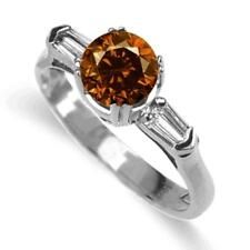 1.38 Carat Cognac Diamond Ring 18k Yellow or White Gold