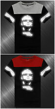 EF Linkin Park Band Gray & Red & Black & whiteReflective Short Sleeve T-Shirt