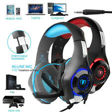 For PC Mobile Phone Tablet Earphone Mic Gaming Headset Over-Ear Headphone W1
