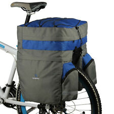 60L Bike Bicycle Cycling Saddle Trunk Bag Double Side Rear Seat Rack Pannier