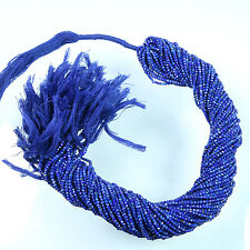 "lapis lazuli faceted rondelle micro beads 2 mm AAA quality 13"" Strand Wholesale"