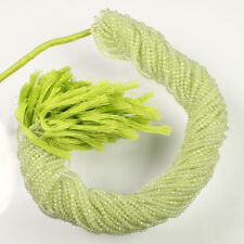 """green Prehnite faceted rondelle micro beads 2-2.5 mm AAA quality 13"""" Strand"""