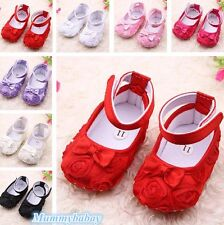 Cute Toddler Baby Girls Princess Shoes Kid Dress Bowknot Rose Flower Shoes T9