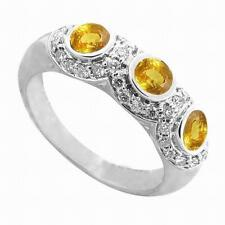 18k White Gold 2.38 CTW Yellow Sapphire VS1 Diamonds Ring
