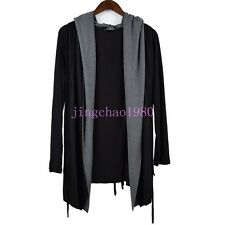 Ch Sreet Punk Mens Cool Hooded Loose Long Sleeve Cardigan Cloak Coat 2017 hot