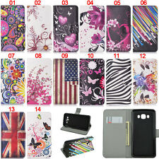Retro UK Stand ID Card Wallet Leather Flip Case Cover For Samsung S5 S6 S7 Edge