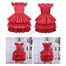 Ruffle Flower Girl Kid Dress Party Pageant Wedding Bridesmaid Tutu Gown for Kids