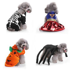 Pet Small Dogs Cats Puppy Costume Outfit Clothes For Witch Halloween Christmas
