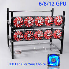 6,8,12 GPU,Open Air Frame Mining Miner Case For Crypto Coin Zcash (ZEC) ETH BTC