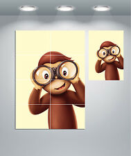 Curious George Monkey kids Bedroom Giant Wall Art Poster Print