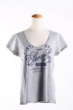 HOT! Brand New + Tags Elwood Lady Legacy  V-neck Tee Top T-Shirt Grey SZ XS - L