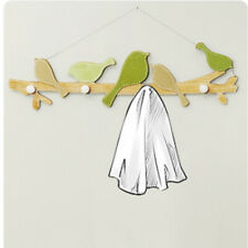 Pastoral Chic Wood Board Wall Hook Hanger Home Decorative Clothes Hat Bag Hanger
