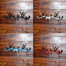 Decorative Metal Deer Antler Hooks Storage Rack Wall Door Mounted Hook Hanger