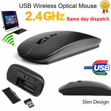 New 2.4GHz USB Wireless Optical Mouse Mice for Apple Mac Macbook Pro Air Laptop