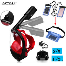 ACALI Full Dry Face Foldable Anti-Fog Snorkel Mask/ Waterproof Dry Bag For GoPro