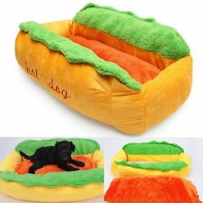Hot Dog Washable Cotton Kennel Pet Bed Cat Nest Puppy House Warm Mat Cushion CR