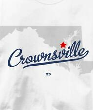 Crownsville, Maryland MD MAP Souvenir T Shirt All Sizes & Colors