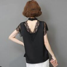 New Fashion Short-sleeved White Shirt Women Hollow Out Blouse