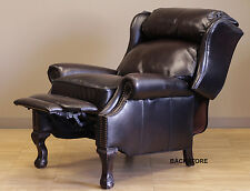 NEW Barcalounger Danbury II Genuine Stetson Bordeaux Leather Recliner Chair