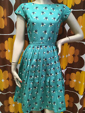 WOMENS RUN & FLY Indie Retro Vintage 50's style tea dress with bumble bee print