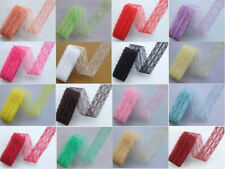 Hot sale! New 10 Yard Beautiful Handicrafts Embroidered Net Lace Trim Ribbon