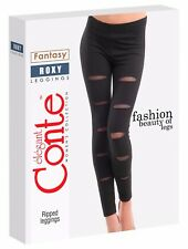 CONTE Stylish Ripped Cotton Leggings ROXY Holes FREE SHIPPING!!! CANADA/USA