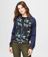 aeropostale womens floral bomber jacket