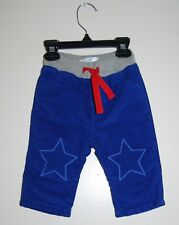 NWOT Baby Boden Infant Boys Lined Blue Star Patch Corduroy Pants 3-6M 6-12M