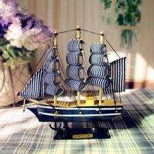 NEW Wooden Sailing Ship Handmade Carved Model Boat Home Nautical Decoration
