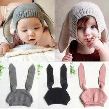 Baby Winter Toddler Kids Boy Girl Knitted Rabbit Crochet Ear Beanie Warm Hat Cap