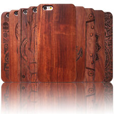 For Apple iPhone 8 8 Plus Shockproof Genuine Natural Wood Wooden Cover Slim Case