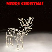 Christmas Outdoor Decoration Lighted Standing Deer 24'' Xmas Yard Lawn Decor