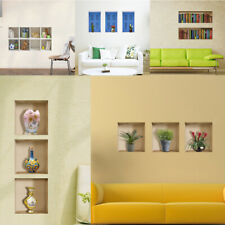 HOT! Art Wall Stickers 3D Room Picture Removable Home Sofa Background Decor