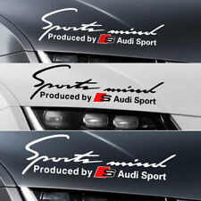1x Sports Mind Eyelashes Decal RS S Line Race Car Headlight Sticker for Audi RS