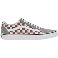 Vans Old Skool Shoes Grey Men's Sneakers Trainers Leather Textile NEW 3z6icj