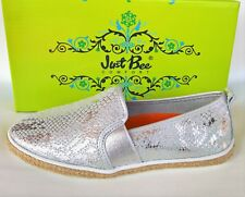 Leather slip on comfort flats Just Bee Shoes Cacti