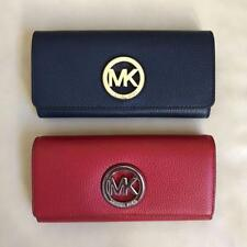NWT Michael Kors Fulton Flap Continental Leather Wallet Various Color