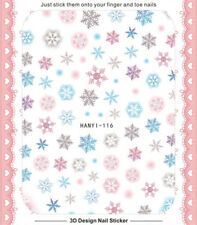 Merry Christmas Snowflake 3D Nail Decals Nail Art Stickers Manicure DIY