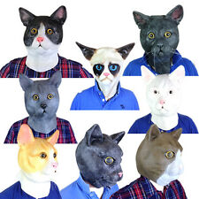 Cat Mask Overhead Movie & TV Prop Pussycat Latex Mask Fancy Dress Stag Party
