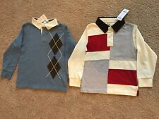 New Gymboree Boys Long Sleeve Rugby Style Polo. Size 6