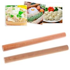 Solid Beech Wooden Pastry Rolling Pin Tapered Rod Pasta Dough Roller Bakery